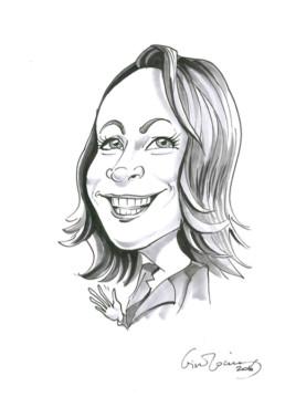 Lena Brunes Hippe karikatur.