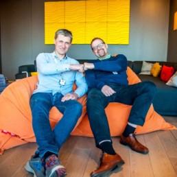 Power Office Trond Eirik Paulsen og Arve Pedersen sitter i sakkosekk. Foto: Christine Karijord