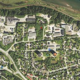 Oversiktsbilde av ledig tomt, Gruben, Mo i Rana. Bilde: Google Maps.